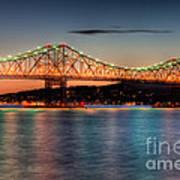 Tappan Zee Bridge Twilight I Art Print