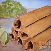 Taquitos With Salsa Art Print