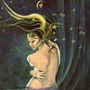 Taurus From Zodiac Series Print by Dorina  Costras