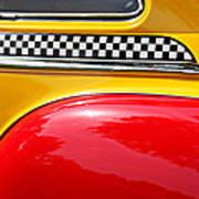 Taxi 1946 Desoto Detail Art Print