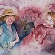 Taylor And Chuck At The Picnic Print by Patsy Sharpe