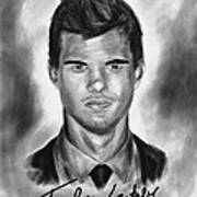 Taylor Lautner Sharp Print by Kenal Louis