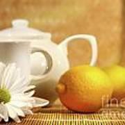 Tea And Lemon Art Print