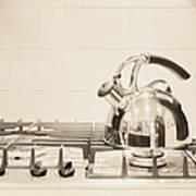 Tea Kettle On Stove Art Print