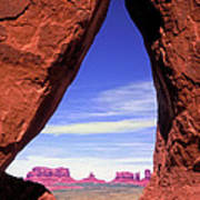 Teardrop Arch Monument Valley Art Print