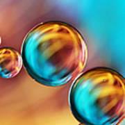 Techno-coloured Bubble Abstract Art Print