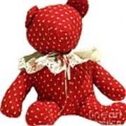 Teddy Bear Of Love Art Print