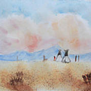 Teepees - Watercolor Art Print