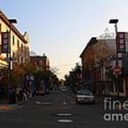 Telegraph Avenue At Bancroft Way In Berkeley California  . 7d10174 Art Print