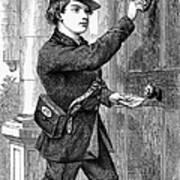 Telegraph Messenger, 1869 Art Print