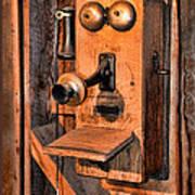Telephone - Antique Hand Cranked Phone Art Print