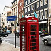 Telephone Box In London Art Print