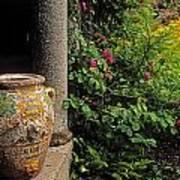Temple And Garden Urn, The Wild Garden Art Print