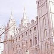 Temple Mormon In Temple Square Art Print
