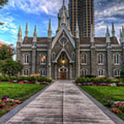 Temple Square Assembly Hall Art Print