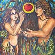 Temptation Of Adam And Eve  Art Print