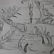 Ten Lords A Leapning Art Print