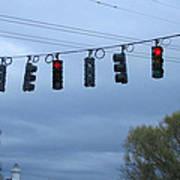 Ten Traffic Lights  Art Print