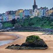Tenby Over North Beach Painted Art Print