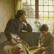 Tender Grace Of A Day That Is Dead Art Print by Walter Langley