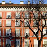 Tenement House Facade In Madrid Art Print
