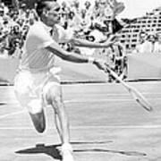 Tennis Champion Jack Kramer, Playing Print by Everett