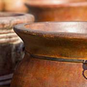Terracotta Mexican Pottery Art Print