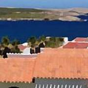 Terracotta Roof Views Art Print