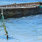 Tethered Boat......... Art Print