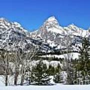Teton Winter Landscape Art Print