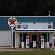 Texaco Gas Station Art Print