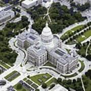 Texas Capitol Color 16 Art Print
