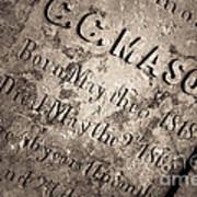 Tcm - C.c. Mason Grave Art Print