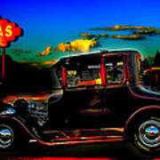 Texas Hot Rod Art Print