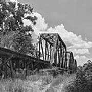 Texas Railroad Bridge Art Print