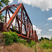 Texas Train Trestle 13984c Art Print