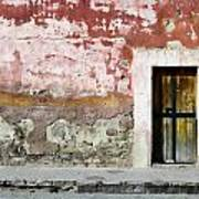 Textured Wall In Mexico Art Print