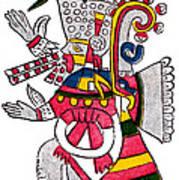 Tezcatlipoca, Aztec God Of Night, Codex Art Print by Photo Researchers