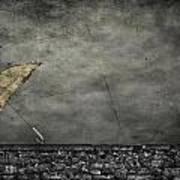 Th E Red Umbrella Art Print by Empty Wall
