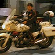 Thai Motorbike Police Art Print by Kantilal Patel