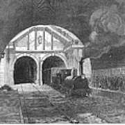 Thames Tunnel: Train, 1869 Art Print