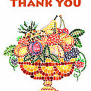 Thank You Card Fruit Vase Art Print