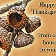 Thanksgiving Card - Where Acorns Come From Art Print