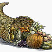 Thanksgiving: Cornucopia Art Print