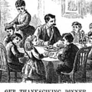 Thanksgiving Dinner, 1873 Art Print