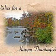 Thanksgiving Greeting Card - Autumn Creek Art Print