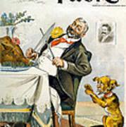 Thanksgiving, Puck Magazine Cover Art Print