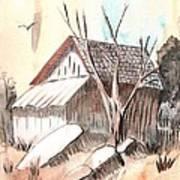 The Abandoned Woodshed Art Print