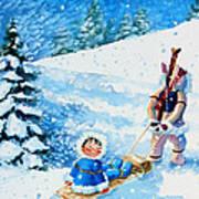 The Aerial Skier - 1 Art Print