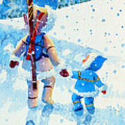 The Aerial Skier - 2 Art Print